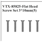 VRX-85825 Flat Head Screw Set 3x10mm (5)