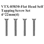 VRX-85830 Flat Head Self Tapping Screw Set 4x26mm