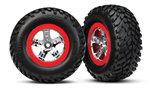 TRX-5973A Tires & wheels, assembled, glued (SCT )