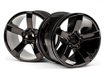HPI -101309 Bullet MT Wheels Black Chrome (2stk)