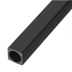 Carbon Square Tube  5x5x3.5x1000mm - Bronto