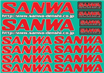 Sanwa  Decal - Red