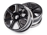 HPI-67768 HB EDGE Wheel (Black Chrome/2pcs)