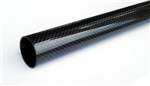 Carbon tube woven 3K -  5x 3x500mm - Bronto