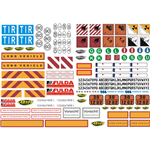 Carson Decal Sheet - Truck Caution signs