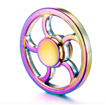 Fidget Spinner - Metal Rainbow Wheel