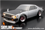 ABC Hobby Nissan Skyline C210 + F.Kit -Lackeret