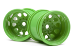 HPI-120039 Classic King Wheel Green (2.2in/2pcs)