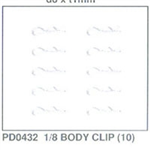 PD0432 Body clips